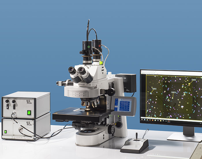 Workstation with Research Microscope