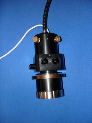 Microscope fiber collimation system